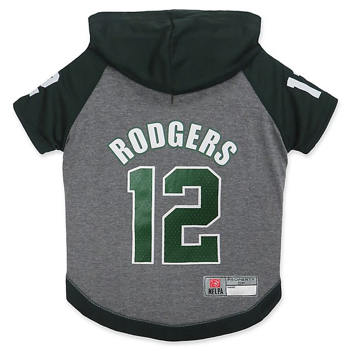 Alternate image 1 for NFL Green Bay Packers Aaron Rodgers Large Pet Hoodie T-Shirt