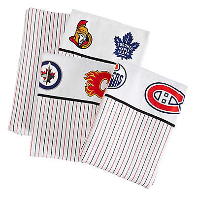 NHL Canadian Teams Flannel Sheet Set