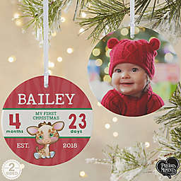 2-Sided Matte Precious Moments Personalized Baby's 1st Christmas Ornament
