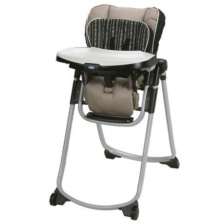 graco slim spaces high chair in beige bed bath beyond. Black Bedroom Furniture Sets. Home Design Ideas