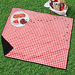 Ants Go Marching Plaid Personalized Picnic Blanket