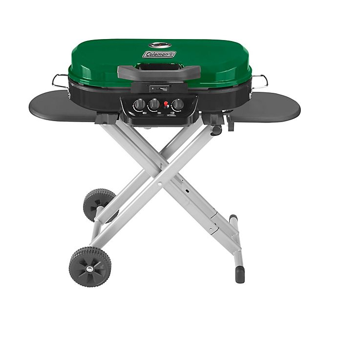 Alternate image 1 for Coleman® RoadTrip® 285 Portable Stand-Up 3-Burner Propane Grill in Green