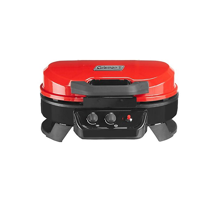 Alternate image 1 for Coleman® RoadTrip® 225 Portable Table-Top 2-Burner Propane Grill in Red