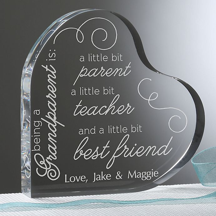 Alternate image 1 for To Be A Grandparent Personalized Heart Keepsake