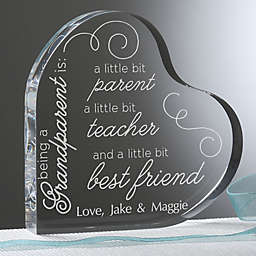 To Be A Grandparent Personalized Heart Keepsake
