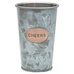 "Towle Living™ ""Cheers"" 16 oz. Galvanized Iron Tumbler in Silver"