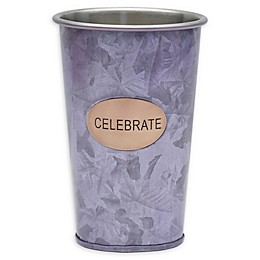"Towle Living™ ""Celebrate"" 16 oz. Galvanized Iron Tumbler"