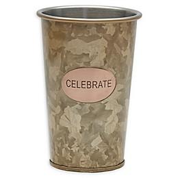 """Towle Living™ """"Celebrate"""" 16 oz. Galvanized Iron Tumbler"""