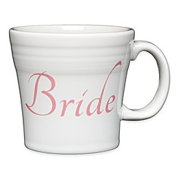 "Fiesta® ""Bride"" Tapered Mug in White"
