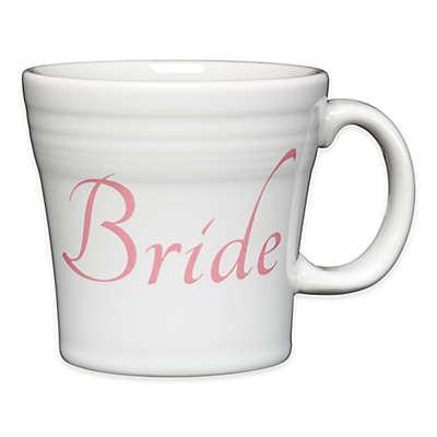 "Fiesta® ""Bride"" Tapered Mug in White"