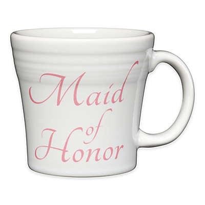 "Fiesta® ""Maid of Honor"" Tapered Mug in White"