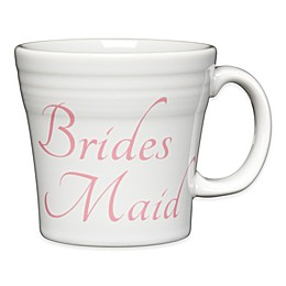 "Fiesta® ""Bridesmaid"" Tapered Mug in White"