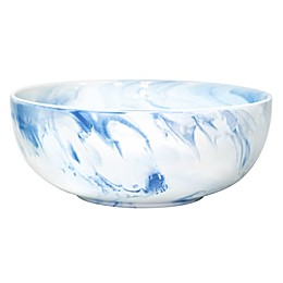 Artisanal Kitchen Supply® 10-Inch Coupe Marbleized Serving Bowl in Blue