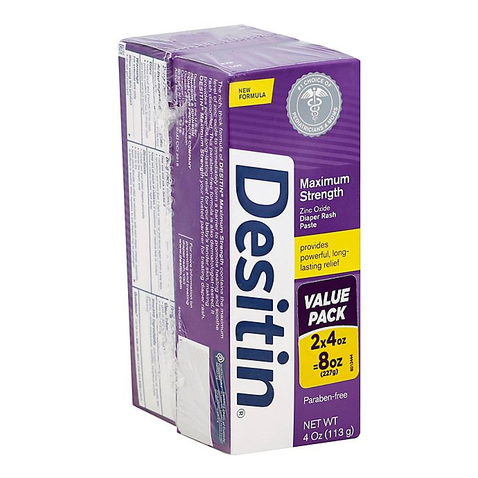 Alternate image 1 for Desitin® 2-Pack 4 oz. Maximum Strength Diaper Rash Paste
