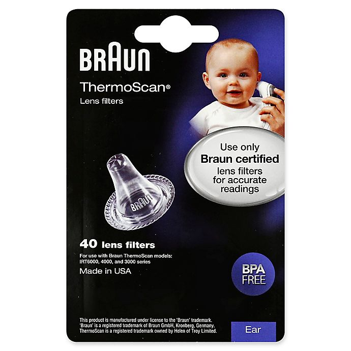Alternate image 1 for Braun® 40-Count Thermoscan Lens Filters