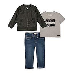 Hudson Kids 3-Piece Biker Jacket, Shirt, and Jean Set