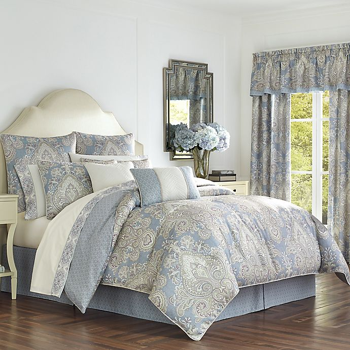 Alternate image 1 for Palermo Full Comforter Set in Blue