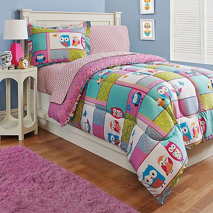 Alternate image 1 for Kidz Mix Owl 2-Piece Twin Comforter Set in Pink