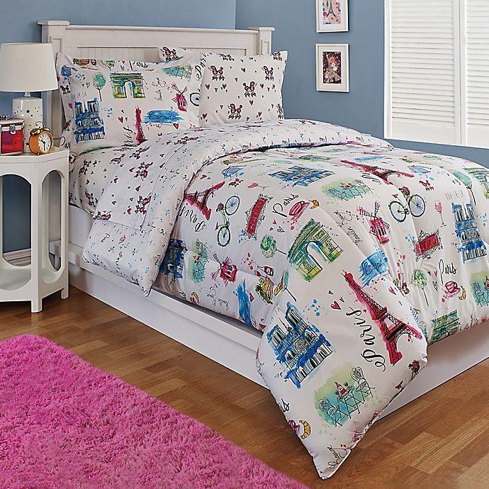 Alternate image 1 for Paris 3-Piece Reversible Full Comforter Set in White