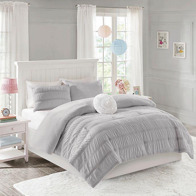 Alternate image 1 for Mi Zone Bella Ruched Reversible Comforter Set
