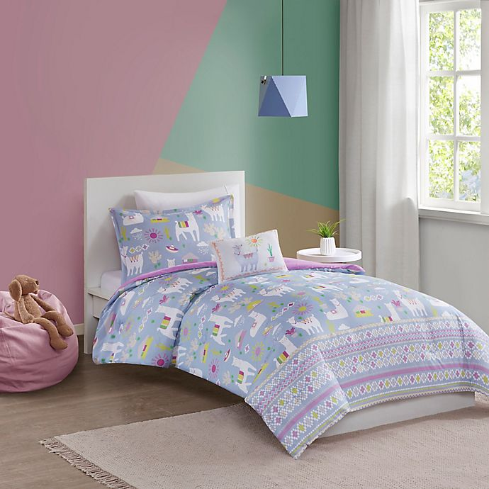 Alternate image 1 for Mi Zone Kids Andes Llama 3-Piece Reversible Twin/Twin XL Comforter Set in Lavender