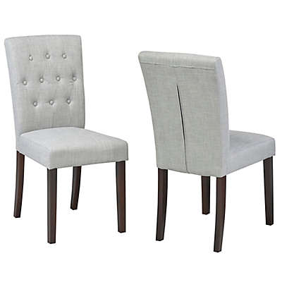 Brassex Inc. Faux Leather Upholstered Sophia Chair in Grey