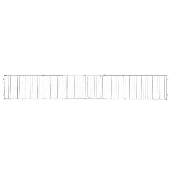 Alternate image 1 for Regalo® Double Door Super Wide Metal Safety Gate in White