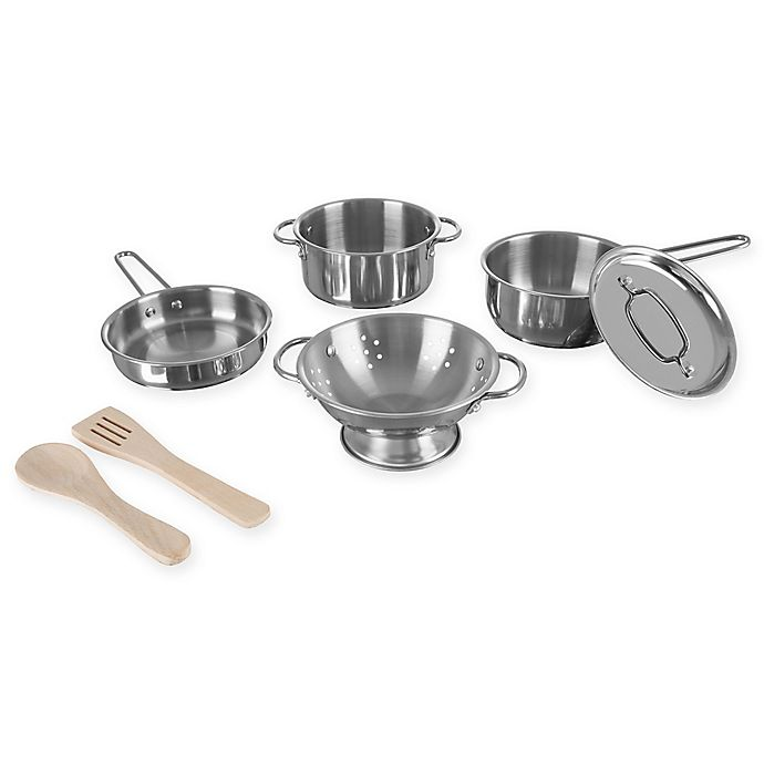 Alternate image 1 for Hey! Play! 7-Piece Pretend Play Pots and Pans Set