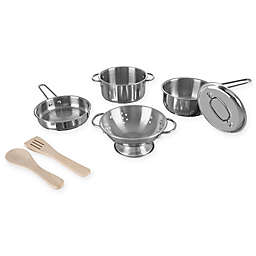 Hey! Play! 7-Piece Pretend Play Pots and Pans Set