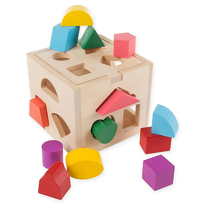 Alternate image 1 for Hey! Play! 12-Piece Wooden Shape Sorter