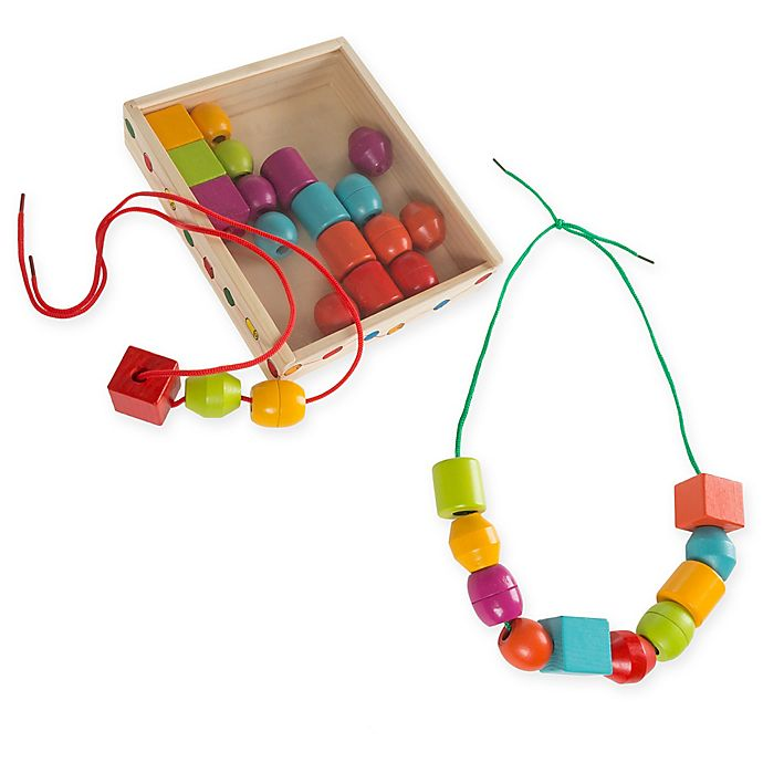 Alternate image 1 for Hey! Play! Bead and String Lacing Set