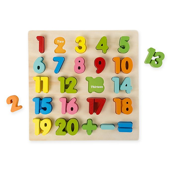 Alternate image 1 for Hey! Play! 24-Piece Wooden Number Puzzle