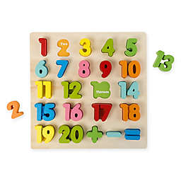 Hey! Play! 24-Piece Wooden Number Puzzle
