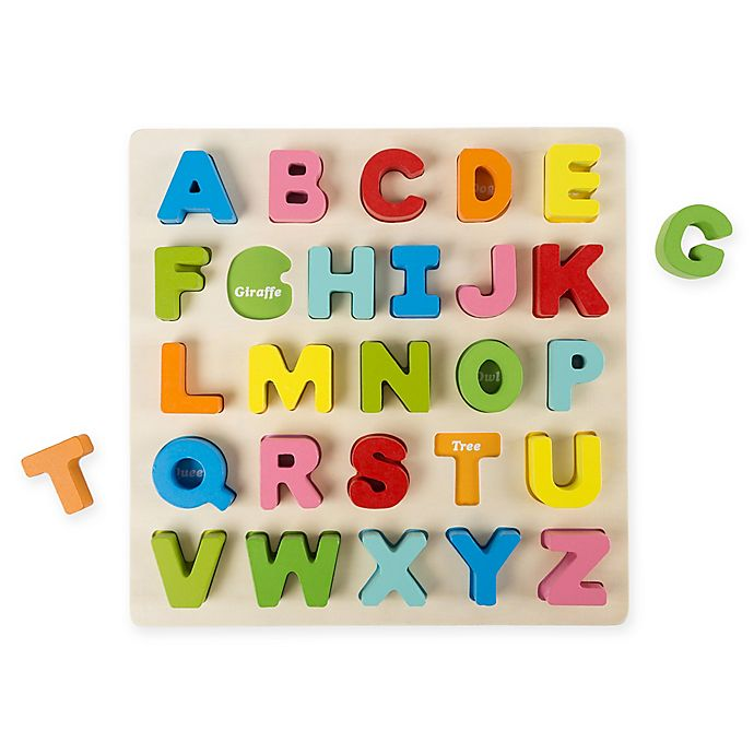 Alternate image 1 for Hey! Play! Wooden Alphabet Puzzle