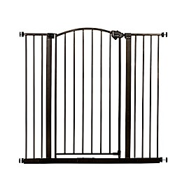 Regalo® Easy-Step Extra-Tall Arched Decor Gate in Bronze