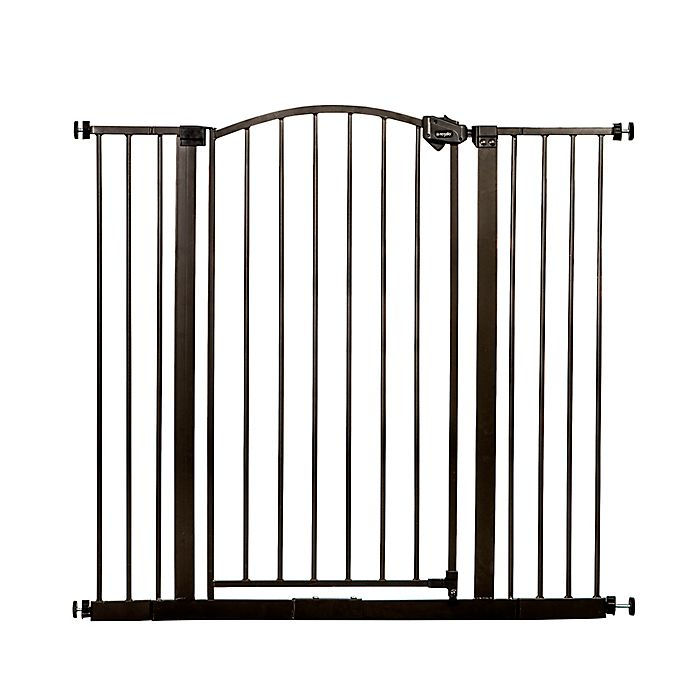 Alternate image 1 for Regalo® Easy-Step Extra-Tall Arched Decor Gate in Bronze