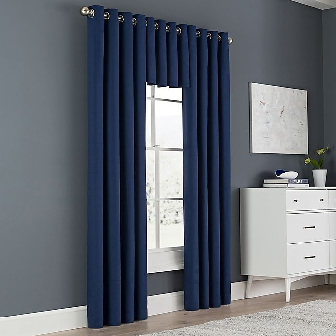Alternate image 1 for Newport Grommet Window Curtain Panel and Valance