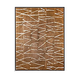 Bassett Mirror Company Crackle Wrapped Canvas Wall Art in Brown
