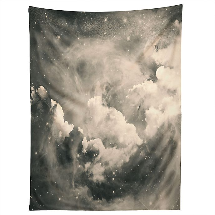 Alternate image 1 for Deny Designs Caleb Troy Find Me Among The Stars 60-Inch x 80-Inch Tapestry in Black