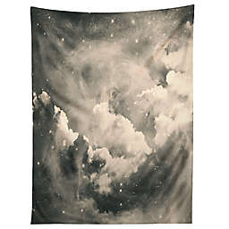 Deny Designs Caleb Troy Find Me Among The Stars 60-Inch x 80-Inch Tapestry in Black