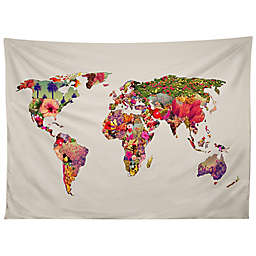 Deny Designs Bianca Green It's Your World 80-Inch x 60-Inch Tapestry
