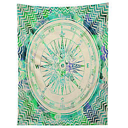 Deny Designs Bianca Green Follow Your Own Path 60-Inch x 80-Inch Tapestry in Blue
