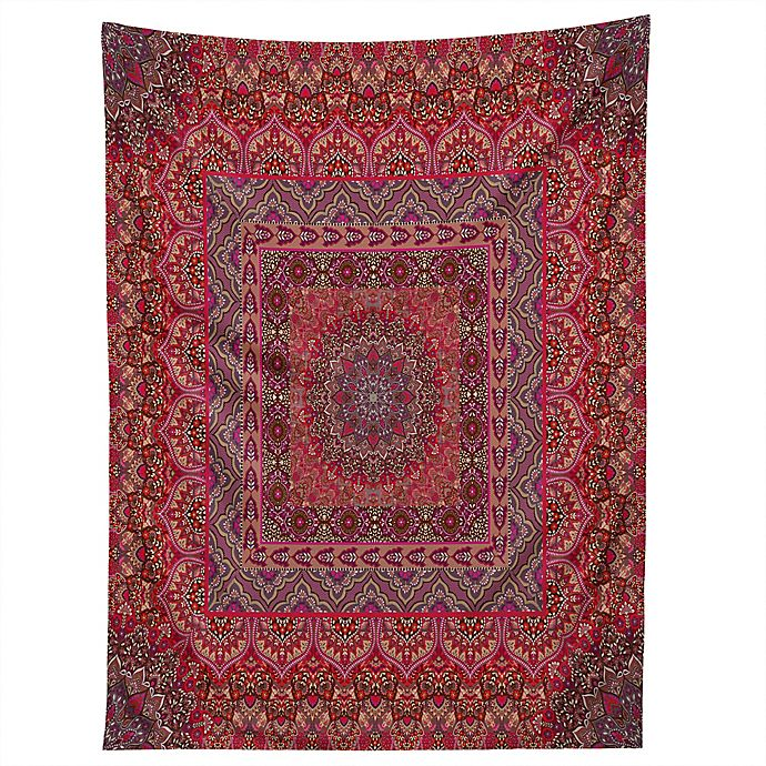 Alternate image 1 for Deny Designs Aimee St Hill Farah Squared Red 60-Inch x 80-Inch Tapestry