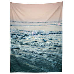 Deny Designs Leah Flores Pacific Ocean Waves 60-Inch x 80-Inch Tapestry in Blue