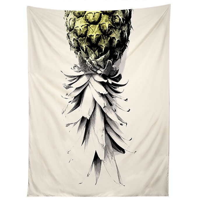 Alternate image 1 for Deny Designs Pineapple Tapestry in Black