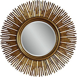 Soleil 48-Inch Round Wall Mirror in Gold