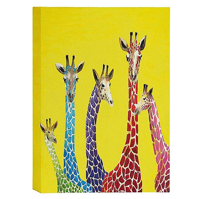 Alternate image 1 for Deny Designs Jellybean Giraffes 16-Inch x 20-Inch Canvas Wall Art