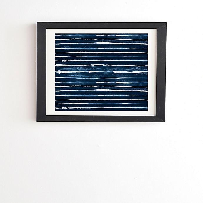Alternate image 1 for Deny Designs Ninola Design Navy Ink Stripes Framed Wall Art