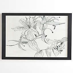 Deny Designs Pencil Lillies 20-Inch Framed Wall Art