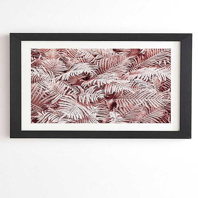 Alternate image 1 for Deny Designs Pink Ferns 14-Inch x 16.5-Inch Framed Wall Art